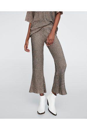 pantalon quadrillé femme zara