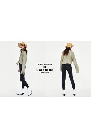 Zara JEAN 80S HIGH WAIST BLACK