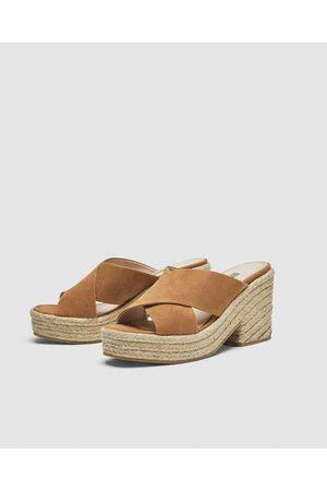 64155aebaf474f Acheter Chaussures compensées femme Zara en Ligne | FASHIOLA.fr ...
