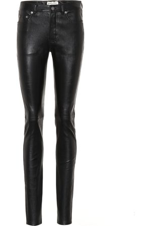 Saint Laurent Pantalon skinny en cuir