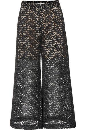 Stella McCartney Femme Pantalons larges - Pantalon ample en dentelle