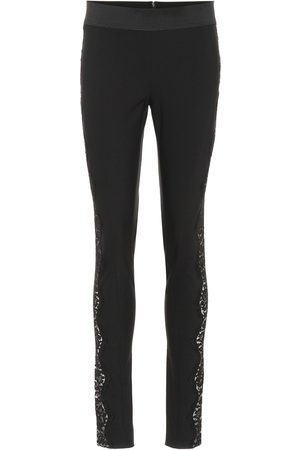 Stella McCartney Legging en coton mélangé stretch et dentelle