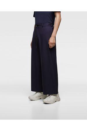 Zara Pantalons larges - PANTALON LARGE FLUIDE
