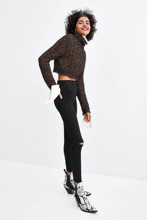 Zara Jegging taille haute shaper avec découpe aux genoux
