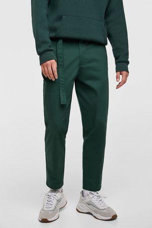 Zara Pantalons larges - PANTALON AMPLE À CEINTURE