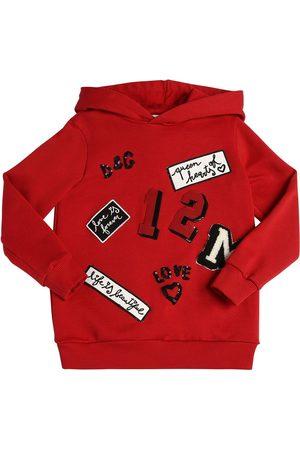 Dolce & Gabbana Sweat-shirt À Capuche En Coton Avec Patchs Logo