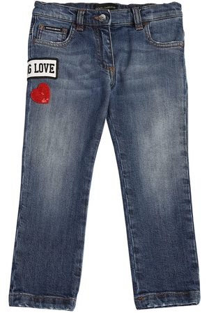 Dolce & Gabbana PATCH LOGO STRETCH JEANS