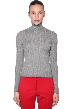MARCO DE VINCENZO Femme Cols roulés - LUREX RIBBED TURTLENECK SWEATER