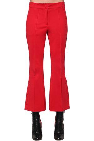 MARCO DE VINCENZO Femme Pantalons bootcut - FLARED TECHNO JERSEY CROPPED PANTS