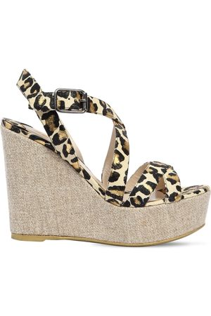 Ernesto Esposito Femme Chaussures compensées & Plateformes - 120MM SNAKE PRINTED LEATHER WEDGES