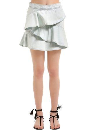 Isabel Marant Femme Jupes - JUPE EN DENIM DE COTON AVEC VOLANTS