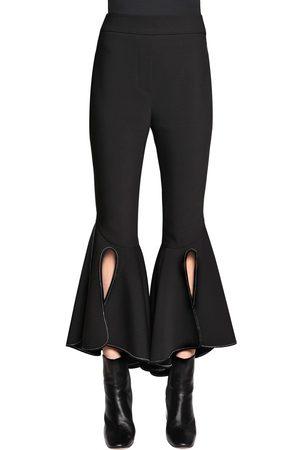 Ellery Femme Pantalons classiques - PANTALON COURT EN GABARDINE DE LAINE À VOLANTS