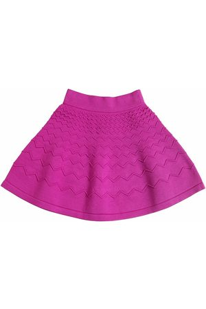 MILLY MINIS ZIGZAG EMBOSSED VISCOSE KNIT SKIRT