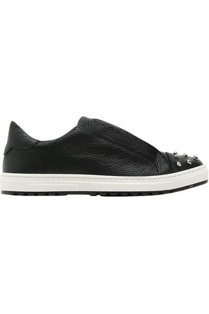 Philipp Plein BASKETS SLIP-ON EN CUIR AVEC CLOUS
