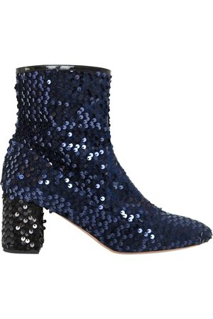 Rochas BOTTINES EN VELOURS À PAILLETTES 60MM