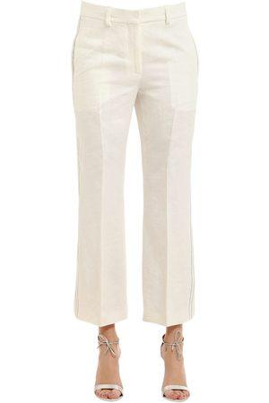 Femme Pantalons - Calvin Klein PANTALON EN LIN À CHEVRONS