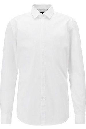 BOSS Homme Manches longues - Chemise de soirée Slim Fit en coton facile à repasser