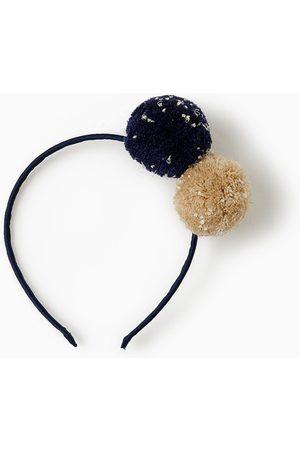 Zara Accessoires cheveux - SERRE-TÊTE À POMPONS