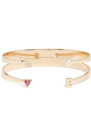DELFINA DELETTREZ Bracelet en , perle, rhodolite et diamants