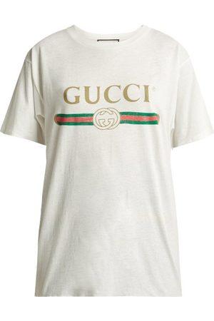 Gucci T-shirt en jersey de coton à logo vintage