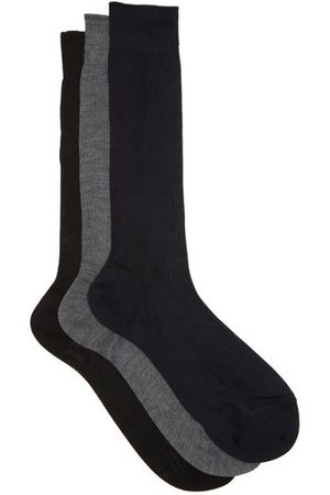 Ensemble de trois paires de chaussettes en soie