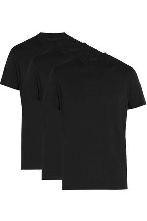 Prada Ensemble de trois T-shirts col ras du cou en coton