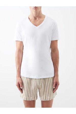 Orlebar Brown T-shirt col en V en jersey de coton Ob-V