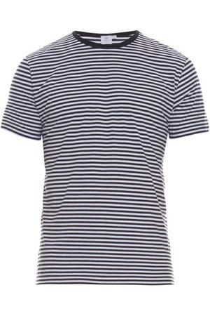 Sunspel T-shirt en jersey de coton rayé