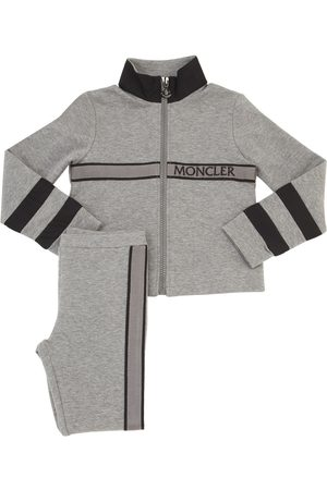 Moncler Pantalon De Jogging Et Sweat-shirt En Coton