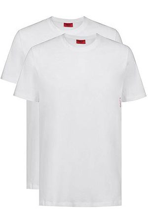 HUGO BOSS Homme Manches longues - Two cotton loungewear T-shirts with vertical logo