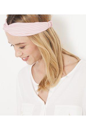 Camaïeu Headband rayé et blanc femme