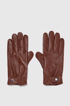 Zara LEATHER GLOVES