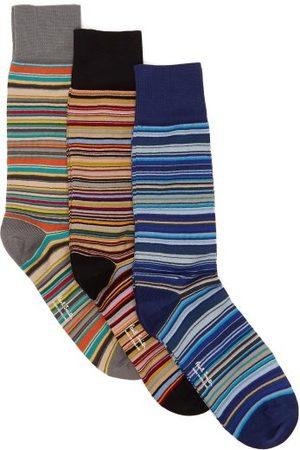 Paul Smith Homme Chaussettes & Bas - Ensemble de trois paires de chaussettes en coton