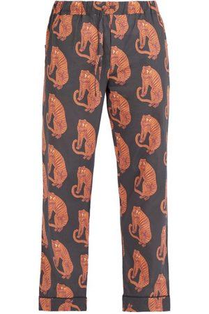 Desmond & Dempsey Pantalon de pyjama en coton imprimé tigres Sansindo