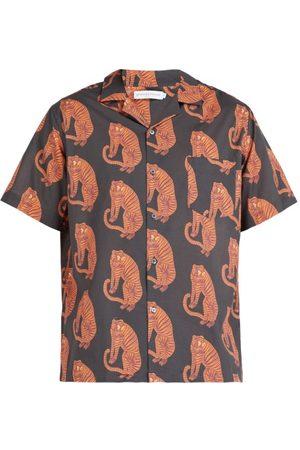 Desmond & Dempsey Chemise de pyjama en coton imprimé tigres Sansindo