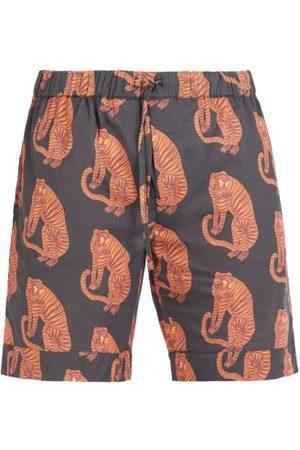 Desmond Dempsey Short de pyjama à imprimé tigre