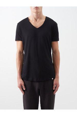 Orlebar Brown T-shirt en coton à col en V