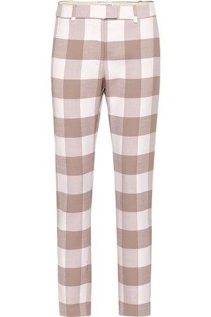 Altuzarra Pantalon raccourci en laine à carreaux