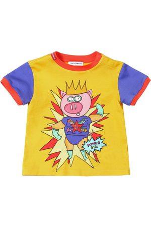 Dolce & Gabbana T-shirt En Jersey De Coton Imprimé King Pig