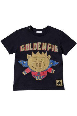 Dolce & Gabbana T-shirt En Jersey De Coton Imprimé Golden Pig