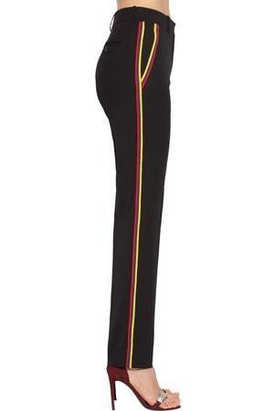 Calvin Klein Pantalon Taille Mi-haute En Gabardine De Laine