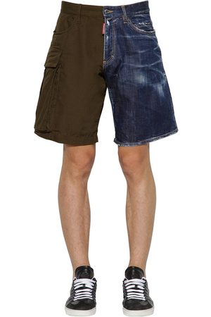 Dsquared2 Short En Coton Ripstop Et Denim