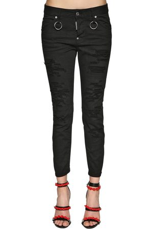 "Dsquared2 Jean ""cool Girl Bull"" En Denim De Coton"
