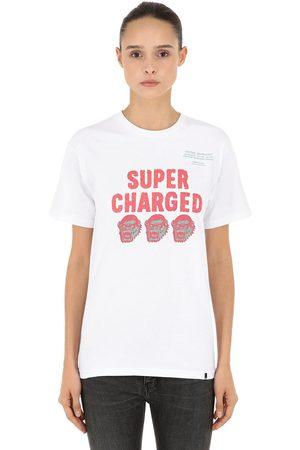 """X-Large T-shirt """"super Charged"""" En Jersey De Coton"""