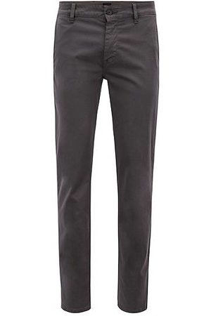 HUGO BOSS Homme Chinos - Chino casual Slim Fit en coton stretch brossé