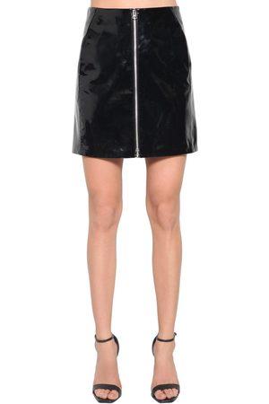 RAG&BONE Mini Jupe Taille Haute En Cuir Verni