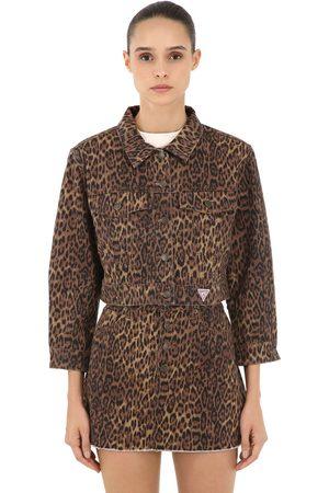 Veste Femme. GUESS JEANS U.S.A. Sean Wotherspoon Leo Print Denim Jacket d9772039a3f