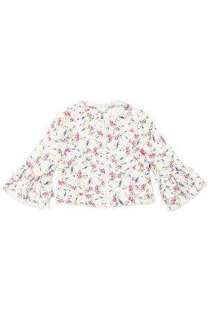 MONNALISA Veste En Tweed Imprimé Roses