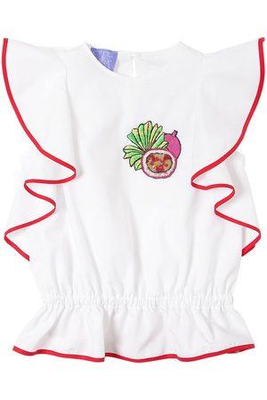 Stella Jean Haut En Popeline De Coton Avec Patch Fruit
