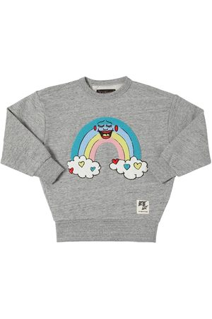 Finger in the Nose Sweat-shirt En Coton Avec Patch Arc-en-ciel